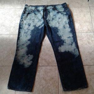 Splatter Jeans ROYAL BLUE Sz 43